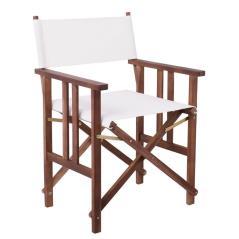 Σκηνοθέτη Πολυθρόνα Acacia Textilene Άσπρο 50x56x87cm