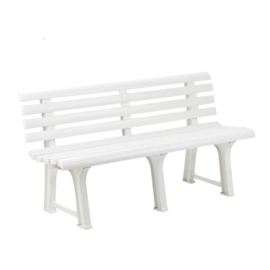 ORCHIDEA Παγκάκι Πλαστικό Άσπρο 145x49x74 cm