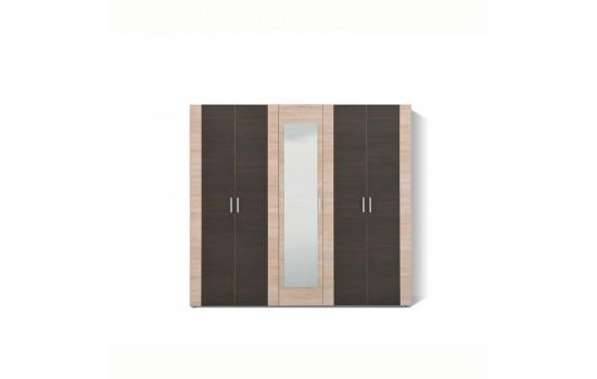 LUNA ΝΤΟΥΛΑΠΑ SONOMA/WENGE-WHITE 5K1O 223.5x53.5x206